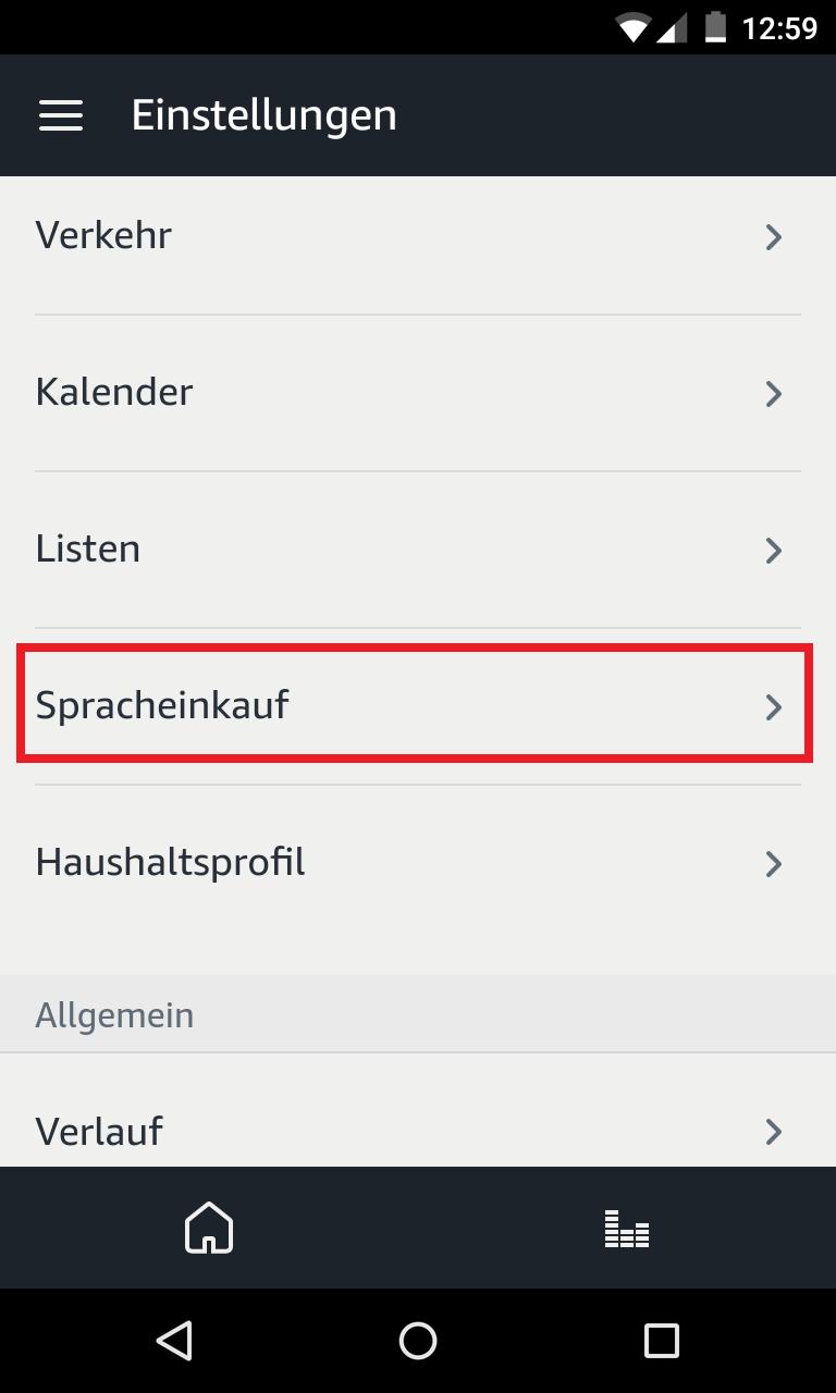 2. Echo Spracheinkauf mit Pin sichern