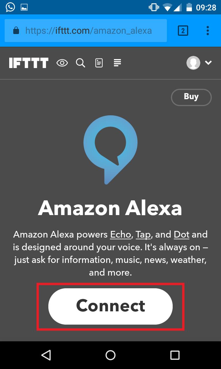 Schritt 3: Alexa IFTTT Applet aktivieren