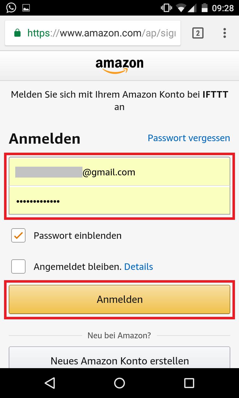 Schritt 4: Alexa IFTTT Applet aktivieren