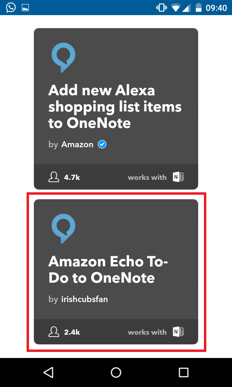 Schritt 7: Alexa IFTTT Applet aktivieren