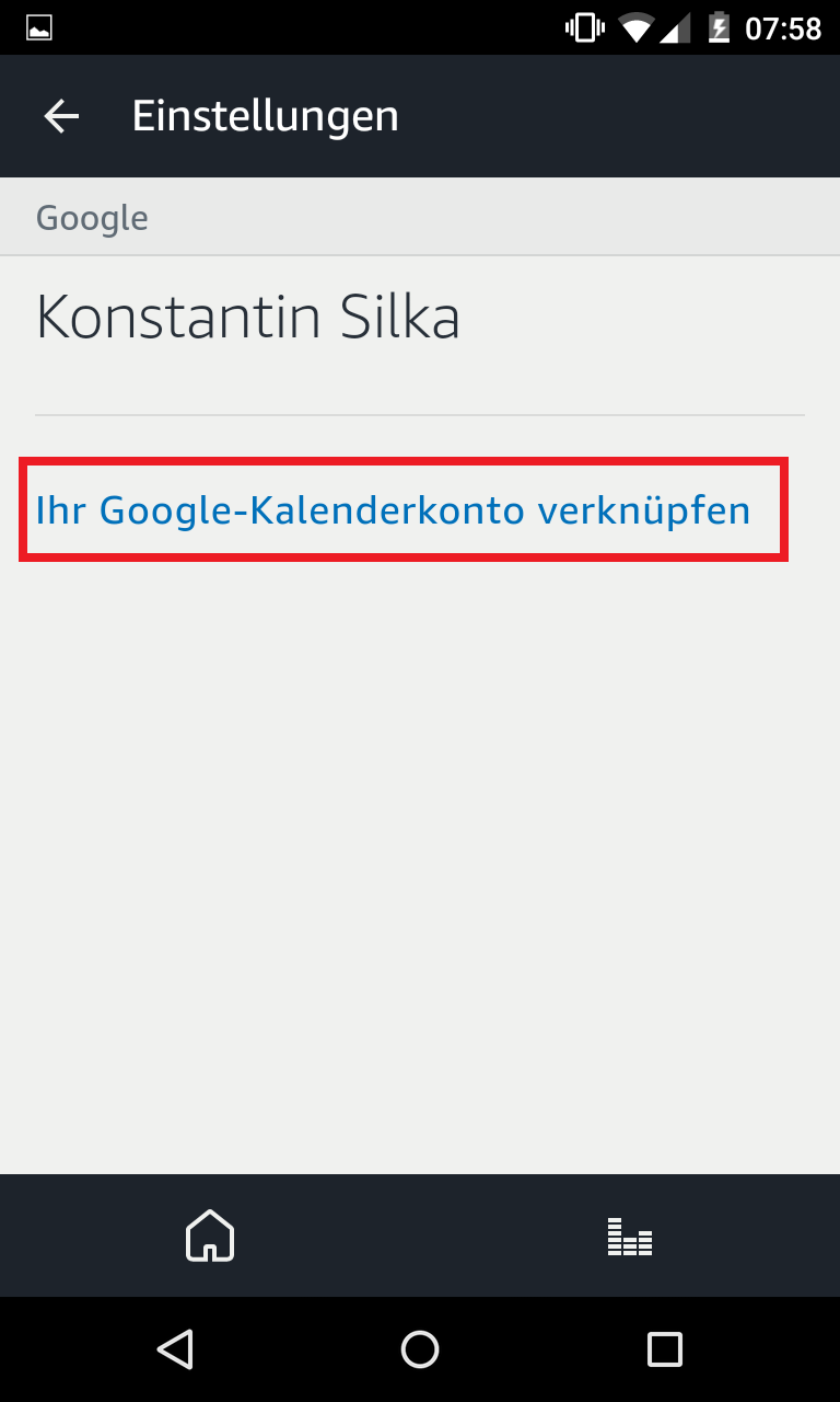 Schritt 4: Alexa Kalender mit Google verknüpfen