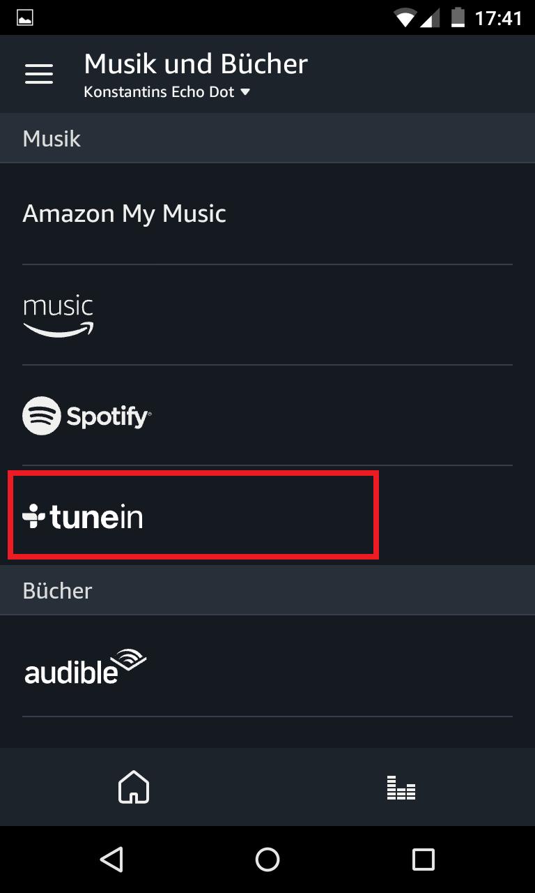 Schritt 2: Alexa Radiosender TuneIn