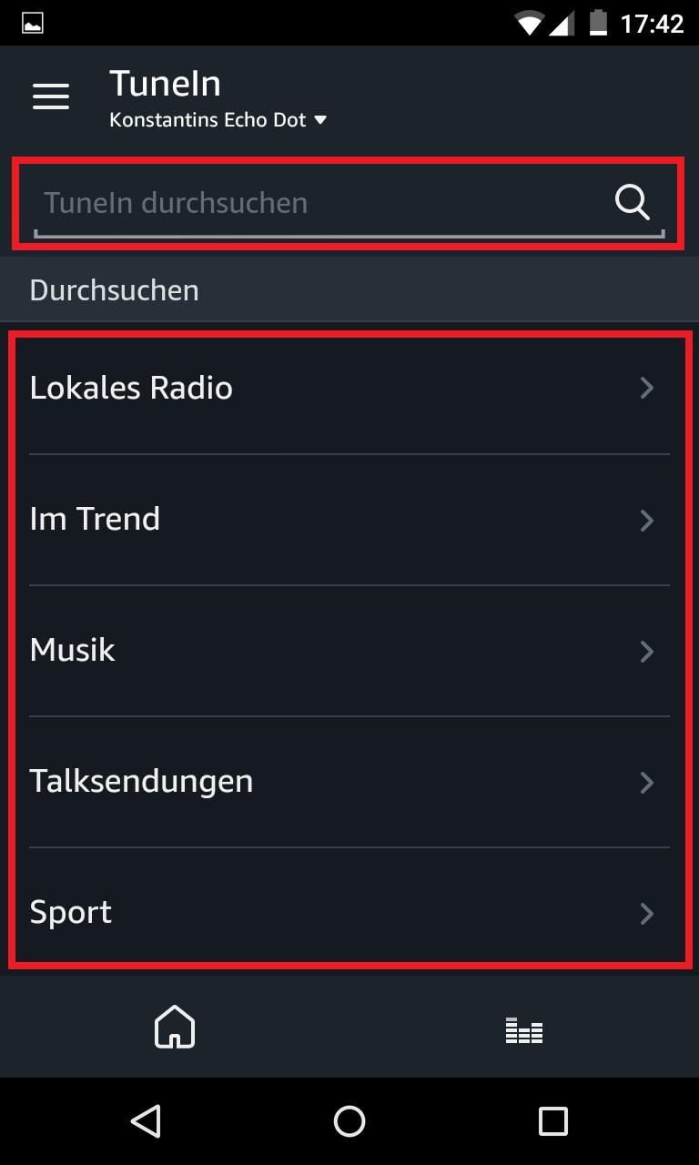Schritt 3: Alexa Radiosender TuneIn