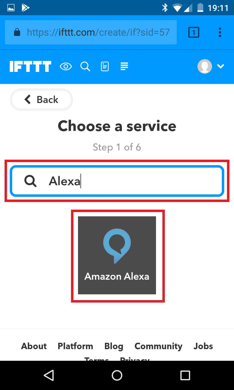 Schritt 3: Alexa IFTTT Applet erstellen