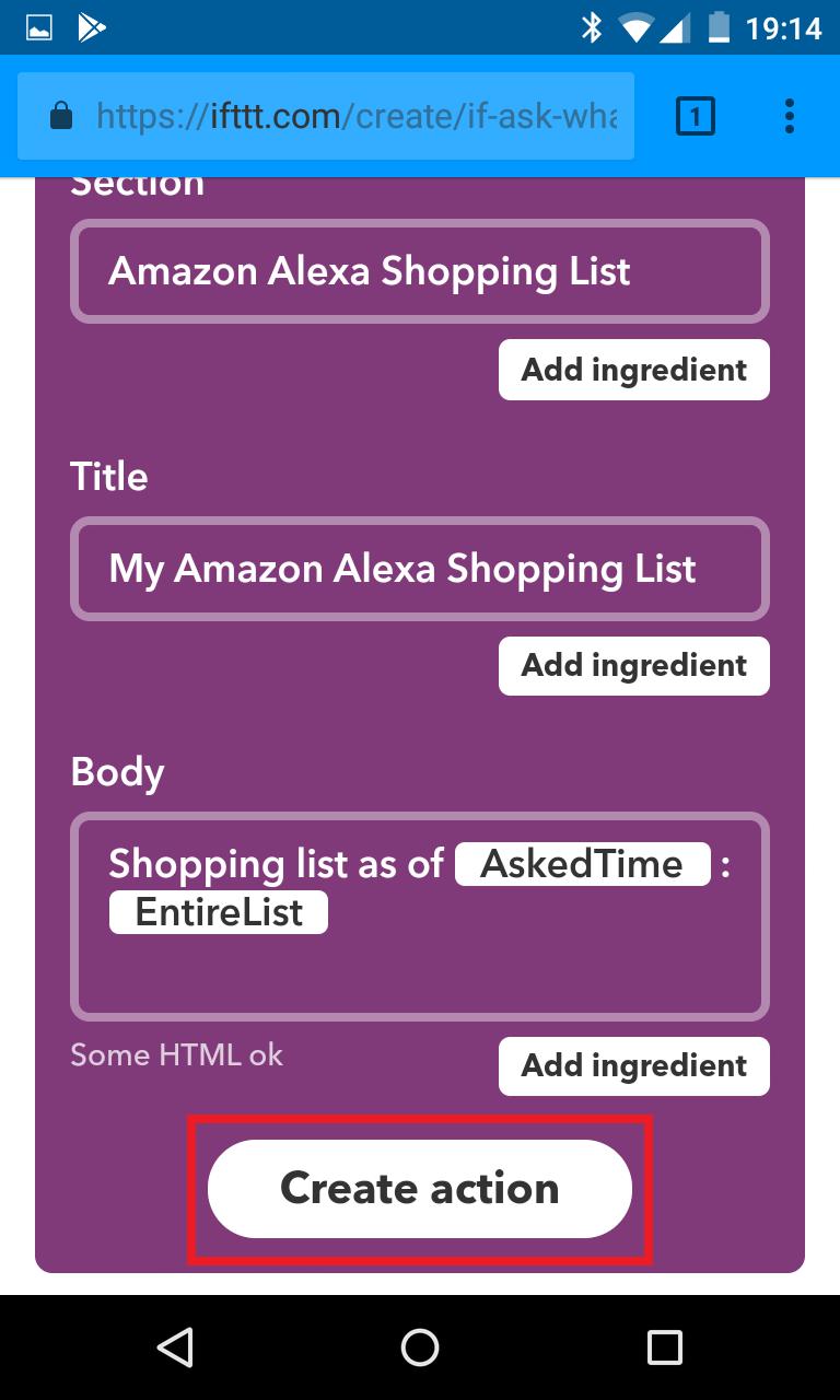 Schritt 8: Alexa IFTTT Applet erstellen