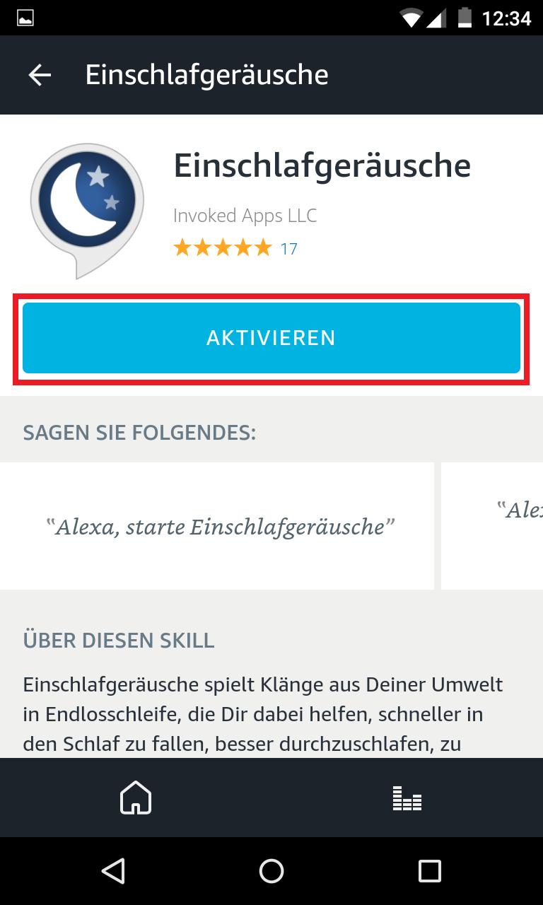 Schritt 3: Alexa Skills aktivieren