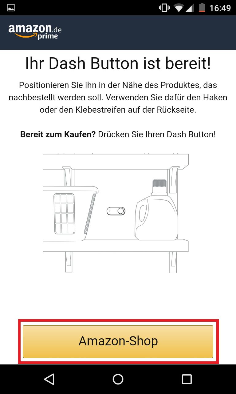 Schritt 11: Dash Button einrichten