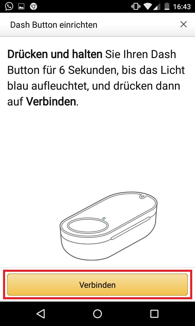 Schritt 7: Dash Button einrichten