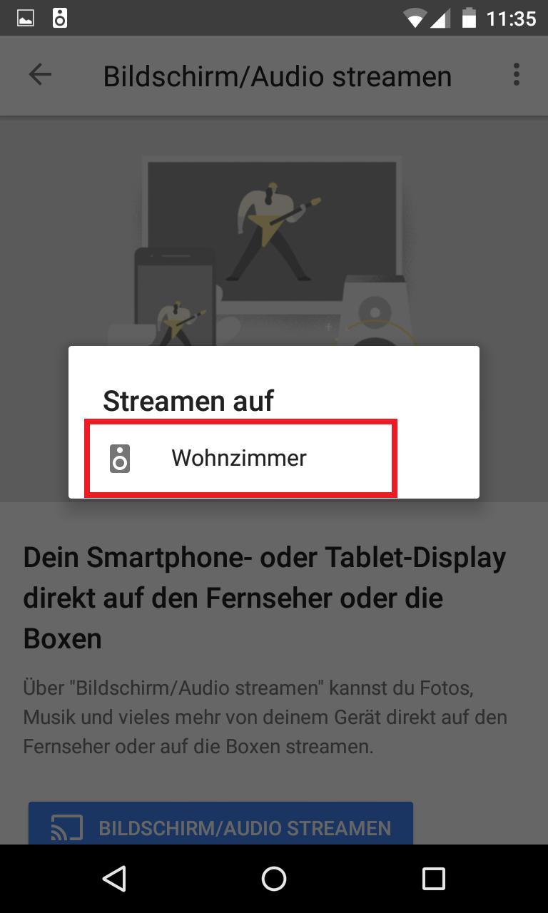 Schritt 2: Audiostreaming auf Google Home