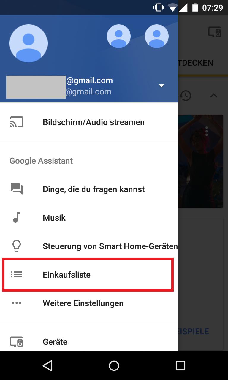 Schritt 1: Google Home Einkaufsliste erstellen