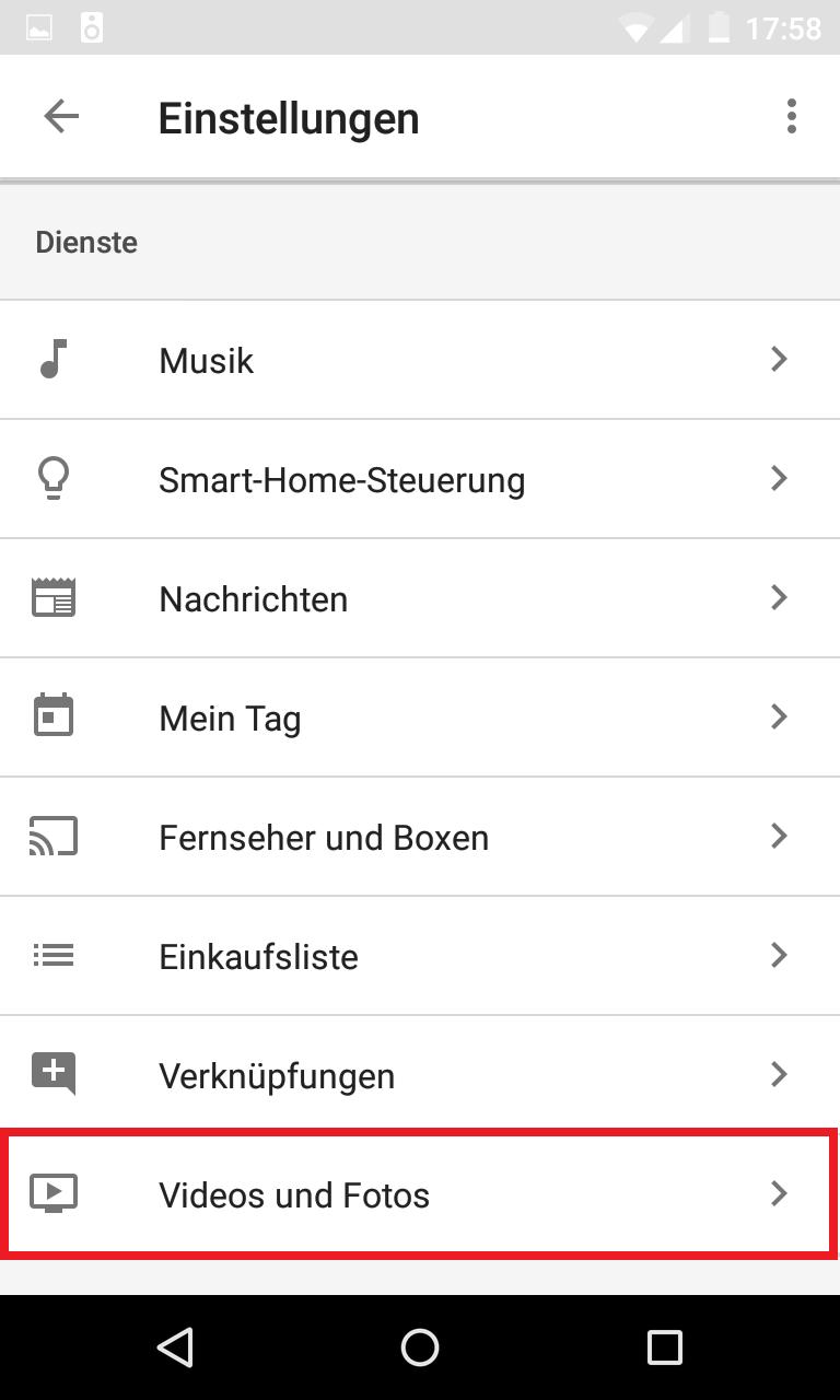 Schritt 2: Netflix Konto mit Google Home App verknüpfen