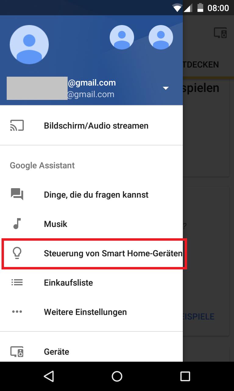 Schritt 1: Smart Home-Geräte einbinden