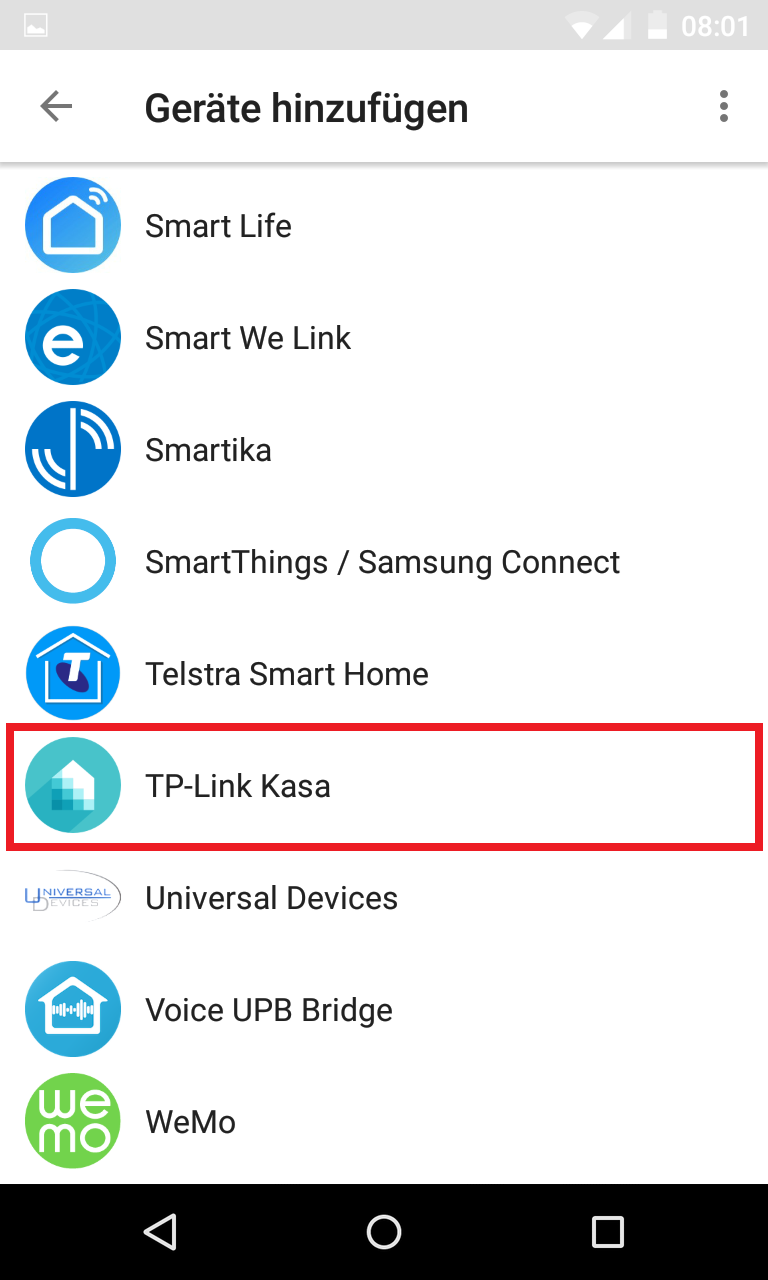 Schritt 3: Smart Home-Geräte einbinden
