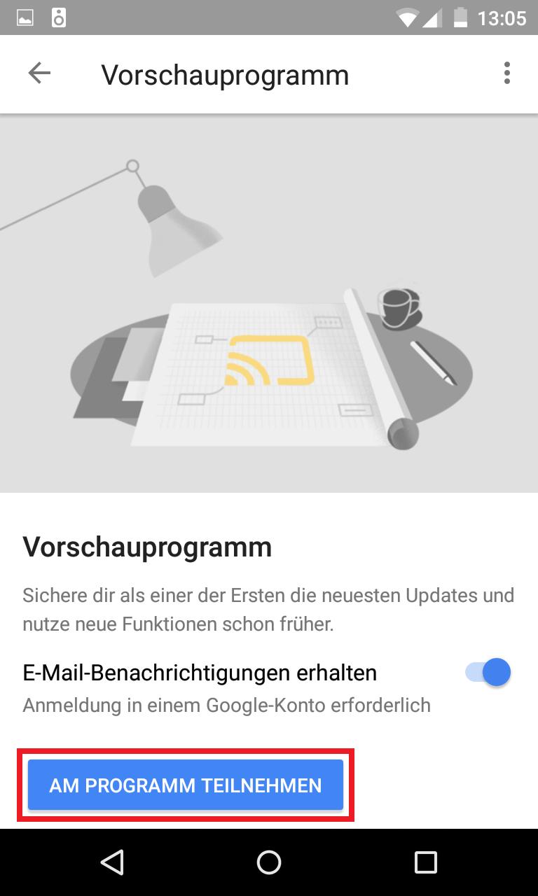 Schritt 5: Google Home Vorschauprogramm aktivieren