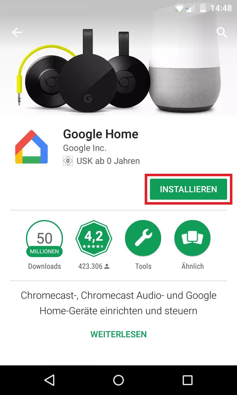 Schritt 1: Google Home einrichten