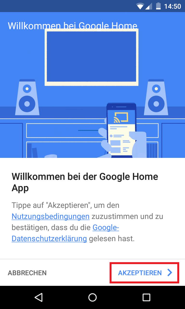Schritt 2: Google Home einrichten
