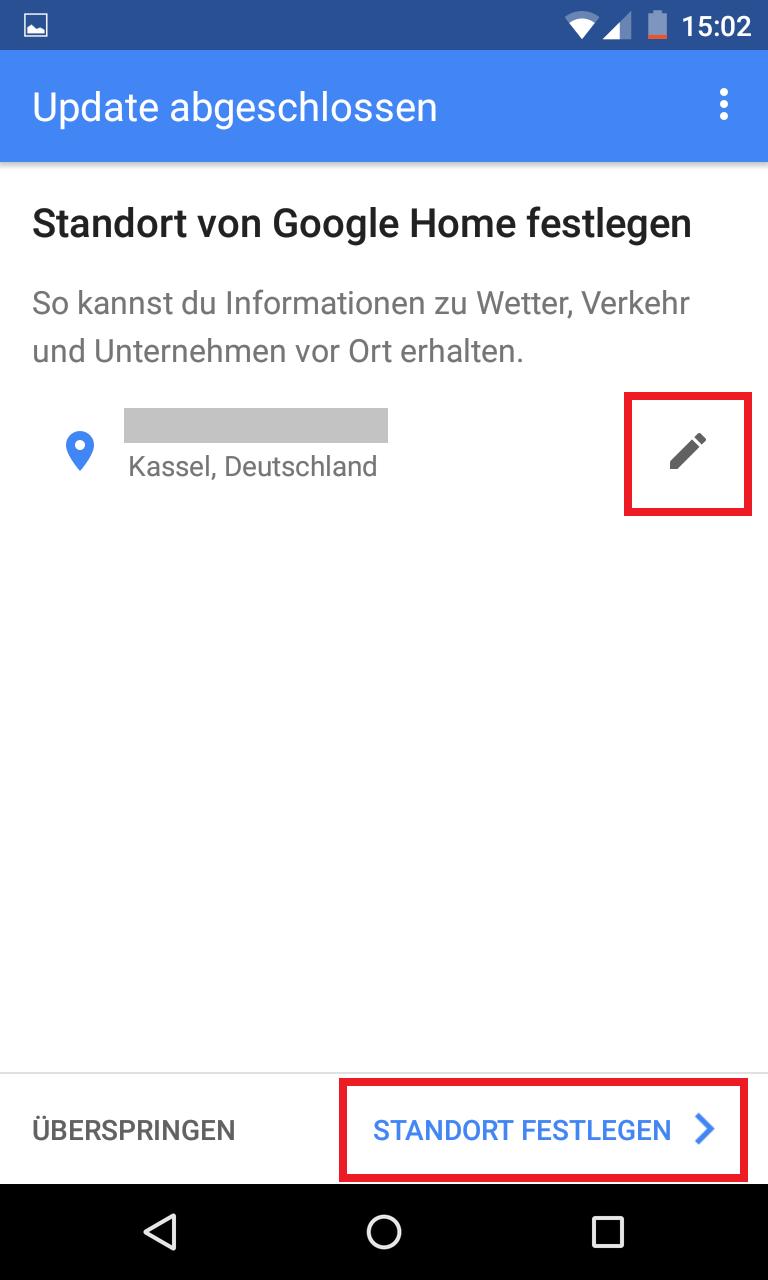 Schritt 14: Google Home einrichten