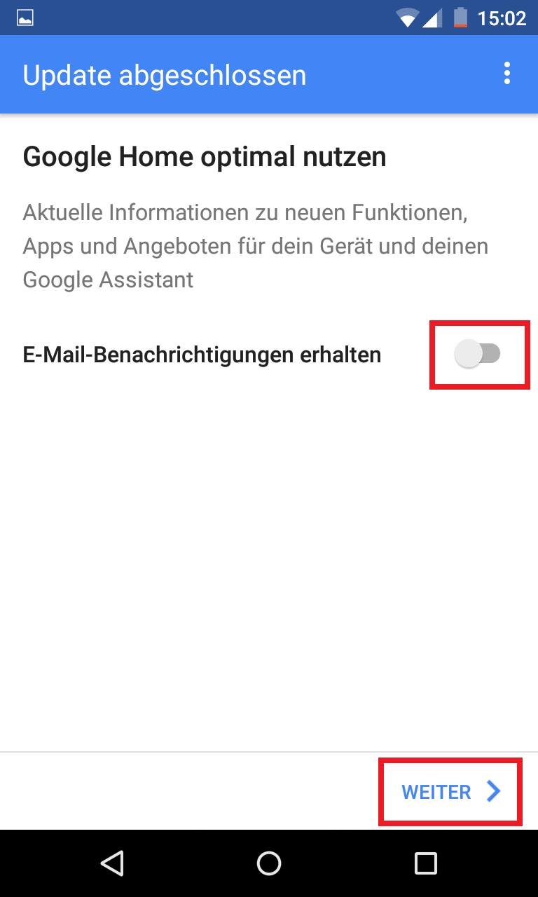Schritt 15: Google Home einrichten