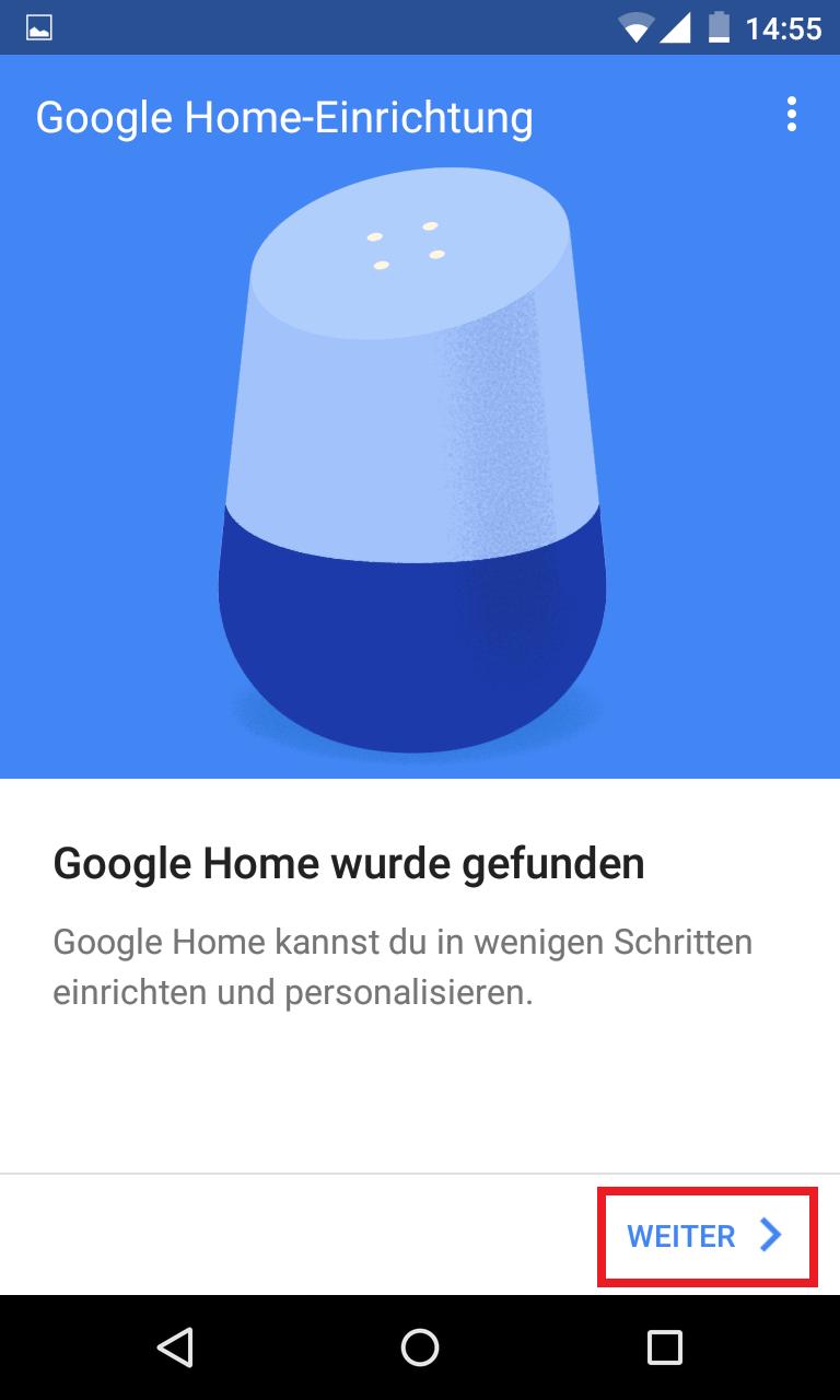 Schritt 3: Google Home einrichten