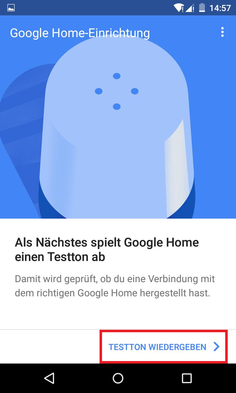 Schritt 4: Google Home einrichten