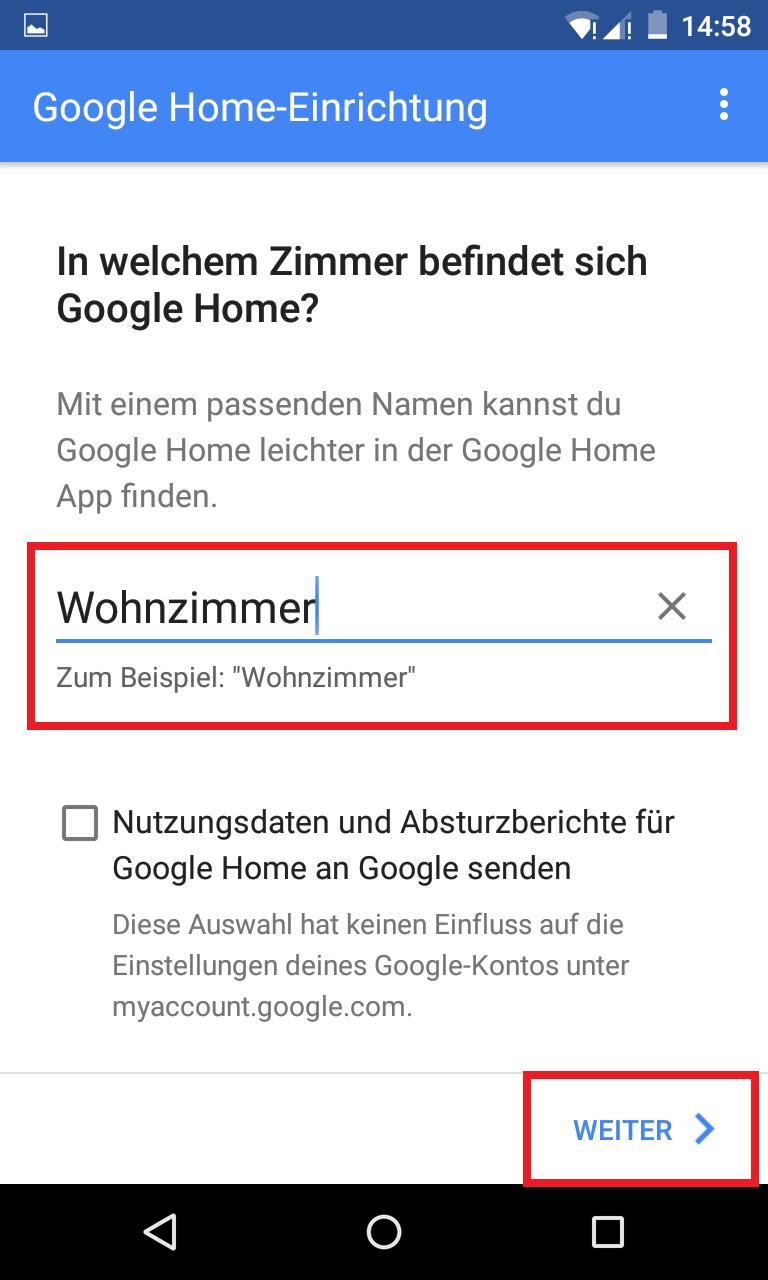 Schritt 6: Google Home einrichten