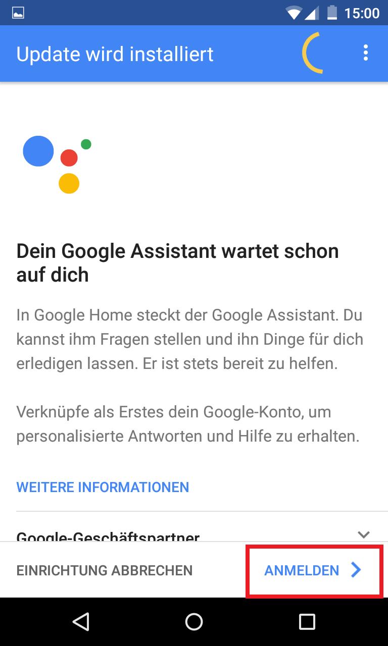 Schritt 9: Google Home einrichten