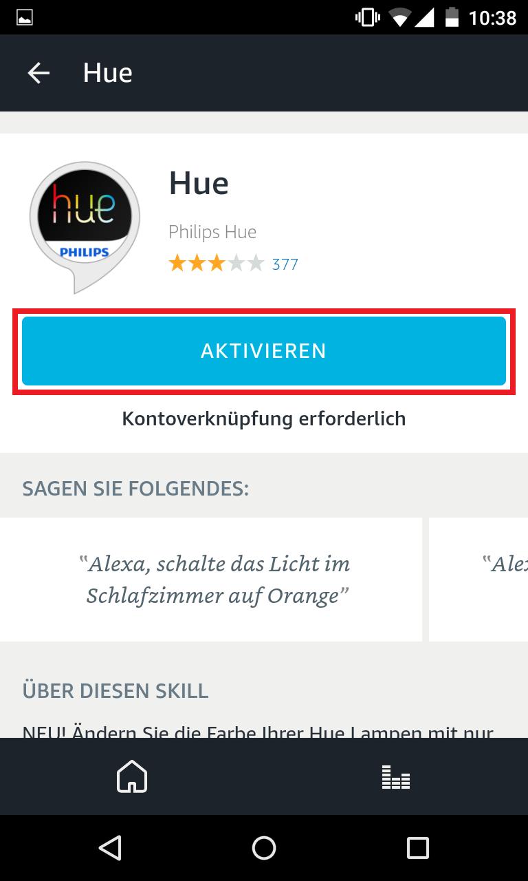 Schritt 4: Philips Hue mit Alexa verbinden