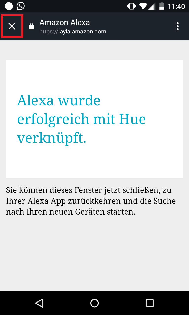 Schritt 6: Philips Hue mit Alexa verbinden