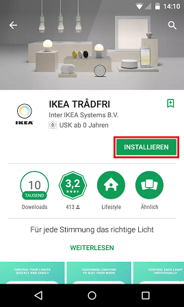 Schritt 1: Ikea Trådfri einrichten
