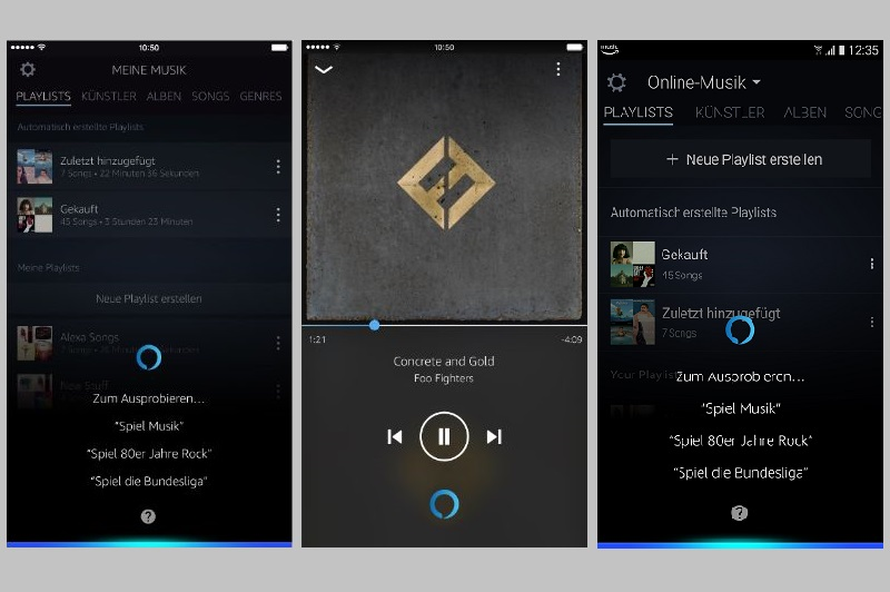 Alexa kommt in die Amazon Music App