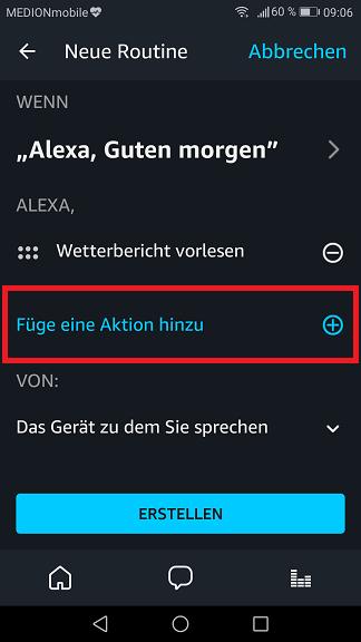 Schritt 10: Alexa Routinen einrichten