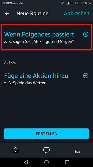 Schritt 4: Alexa Routinen einrichten