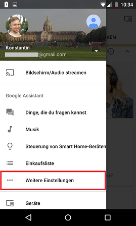 Schritt 1: Google Assistant: Multi-User-Unterstützung