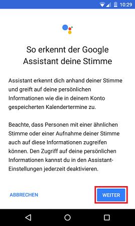 Schritt 5: Google Assistant: Multi-User-Unterstützung