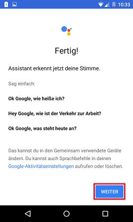 Schritt 8: Google Assistant: Multi-User-Unterstützung