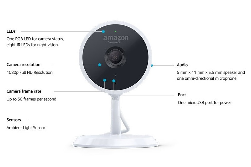 amazon cloud cam: Smarte Indoor-Kamera aus dem Hause Amazon