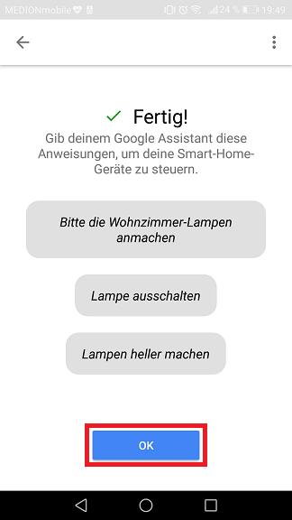 Schritt 8: Sonoff mit dem Google Assistant verbinden