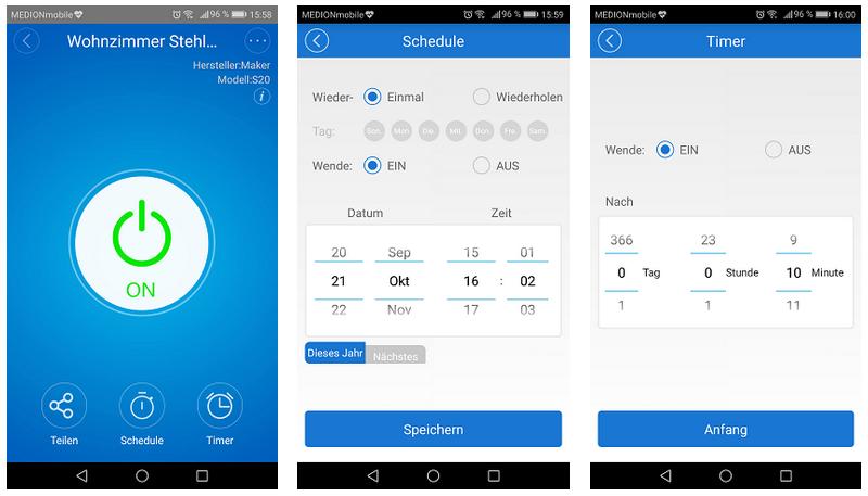 eWeLink-App Sonoff S20 Funktionen