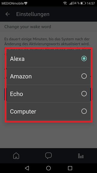 5. Alexa Aktivierungswort ändern