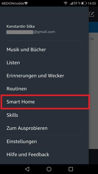 Schritt 1: Alexa Multiroom einrichten