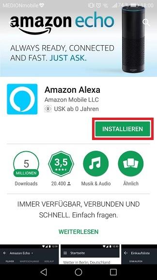 Schritt 1: Alexa einrichten