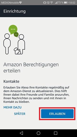 Schritt 5: Alexa einrichten