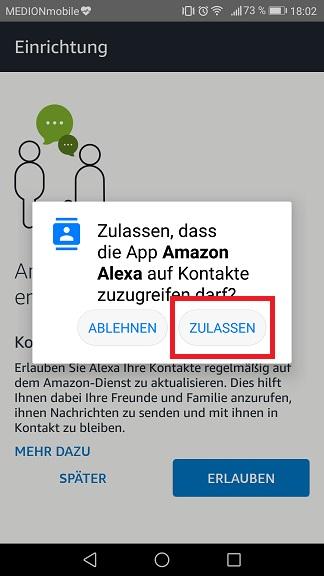 Schritt 6: Alexa einrichten
