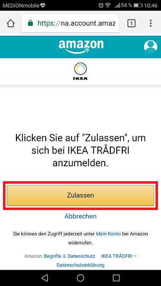 Schritt 12: Ikea Trådfri Alexa