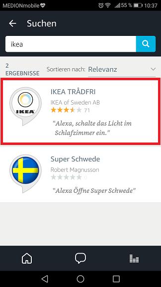 Schritt 3: Ikea Trådfri Alexa
