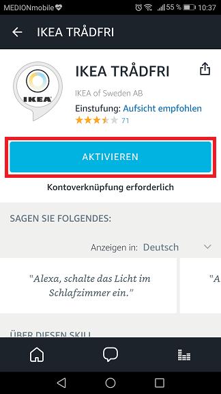 Schritt 4: Ikea Trådfri Alexa