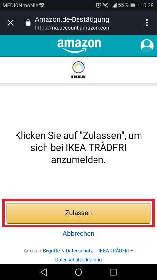 Schritt 5: Ikea Trådfri Alexa