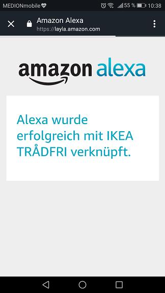 Schritt 6: Ikea Trådfri Alexa