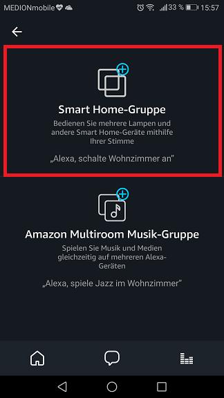 Schritt 3: Alexa Gruppe erstellen