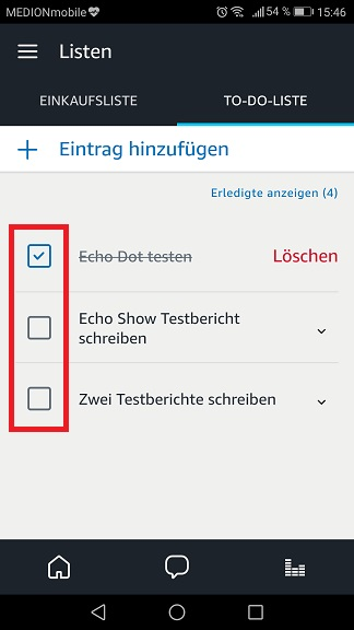 Alexa To-do Eintrag abhacken